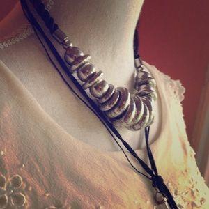 Jewelry - Silver Circles Boho Statement Necklace